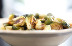 Orange Maple Glazed Brussels Sprouts