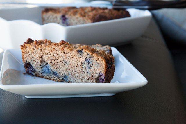 Paleo Banana Bread with Blueberries