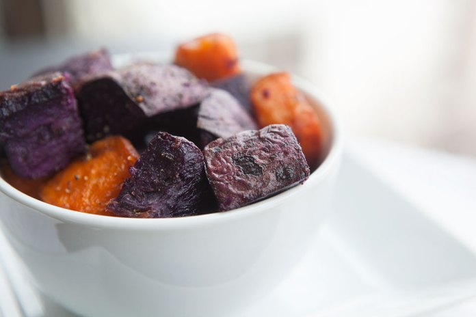 Crispy Purple Sweet Potatoes