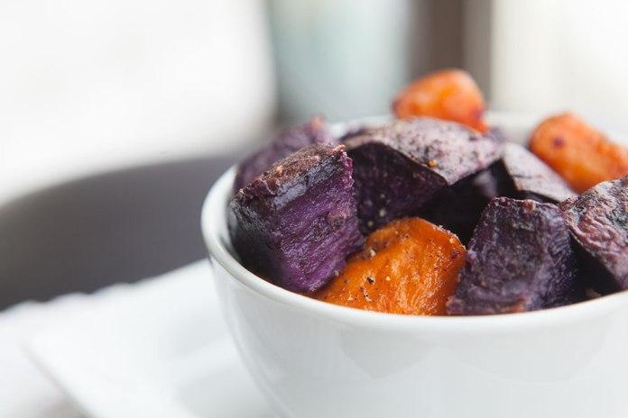 Crispy Purple Sweet Potatoes