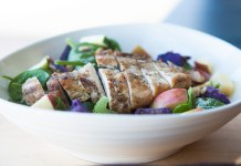 Winter Chicken Salad with Apple Cider Vinaigrette