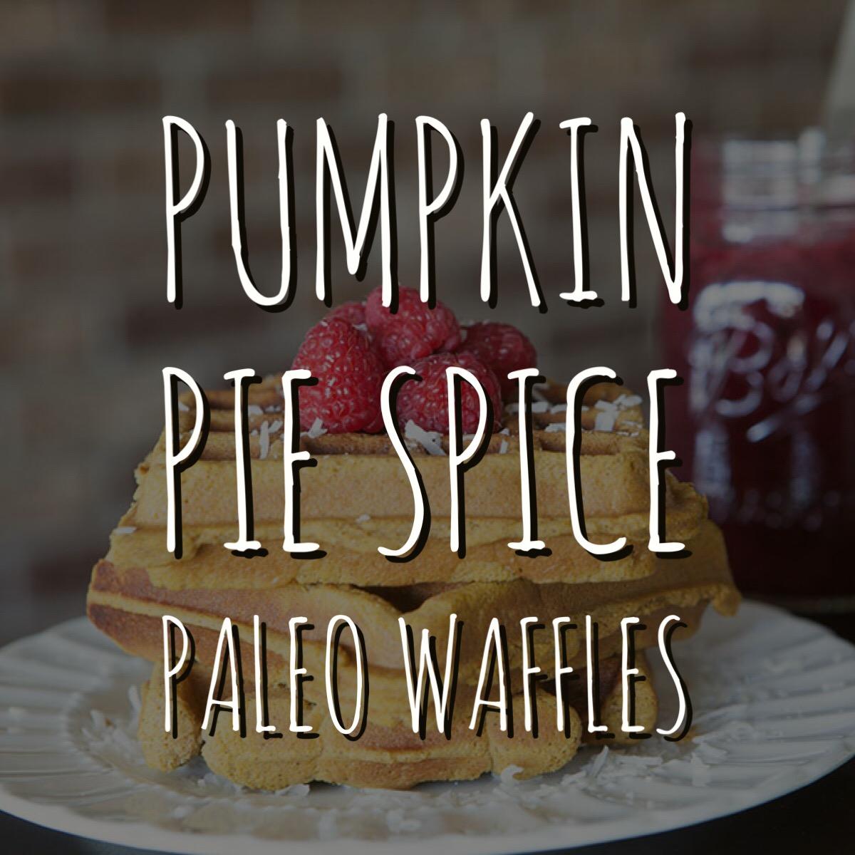 Pumpkin Pie Spice Paleo Waffles - by AmazingPaleo.com