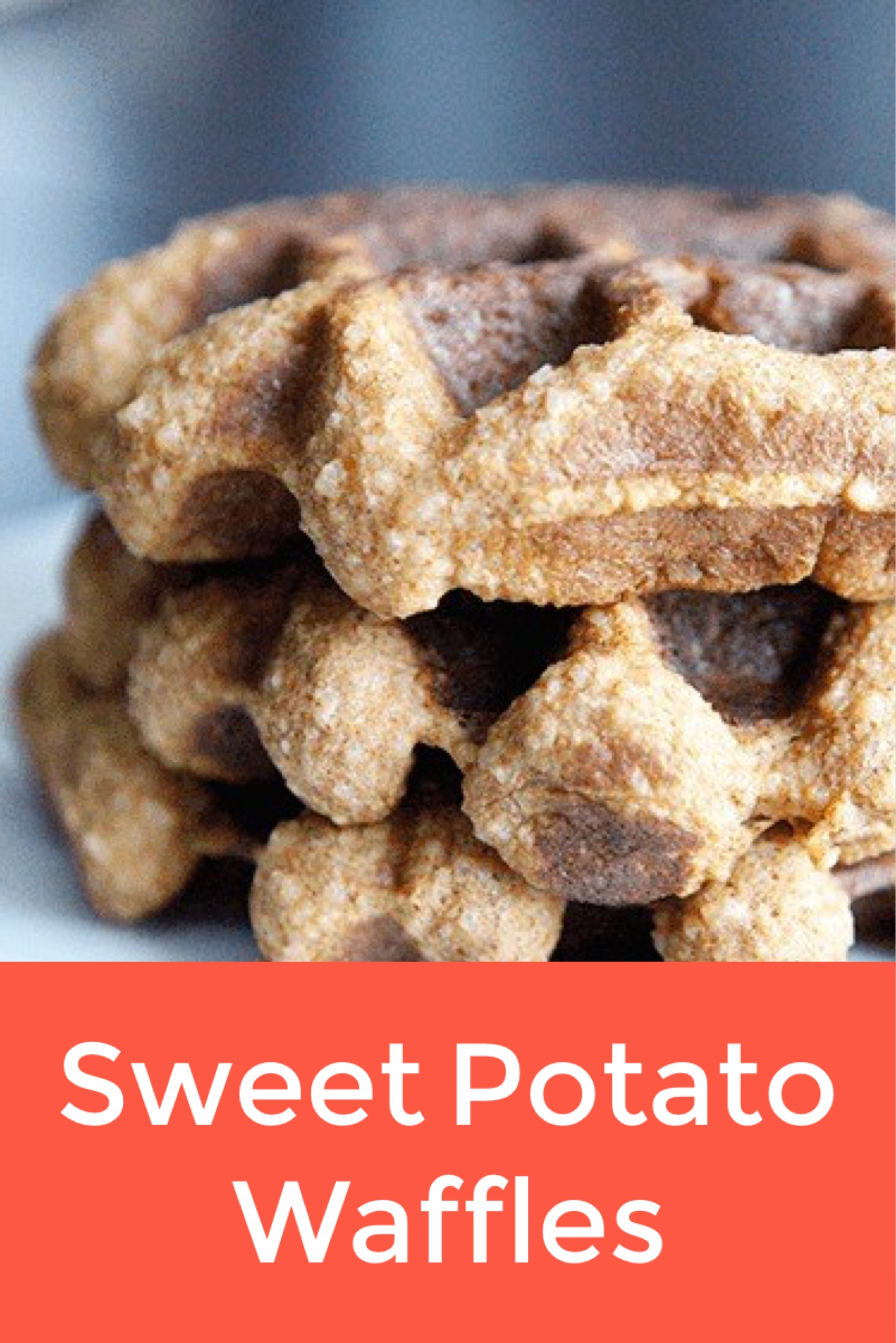 Sweet Potato Waffles - by AmazingPaleo.com