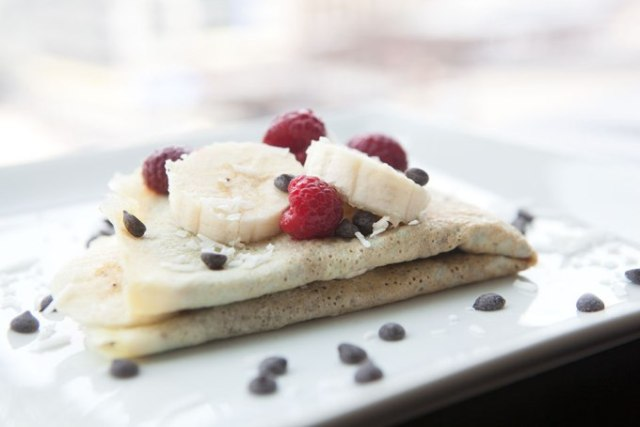 Chocolate Banana Paleo Crepe