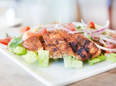 Blackened Chicken with Avocado and Cucumber Salsa