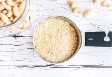 How-to: Make Homemade Cashew Flour