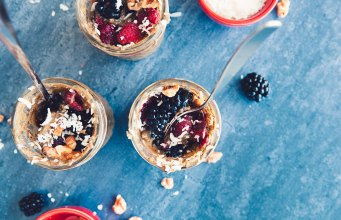 Pumpkin Blueberry Chia Seed Puddings