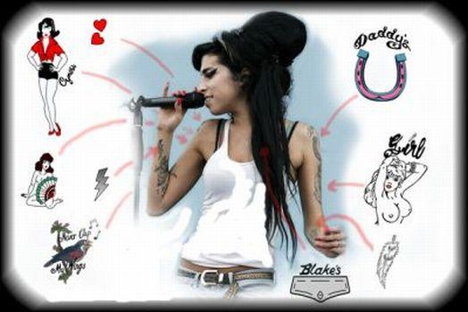 Amy Winehouse Temporary Tattoos