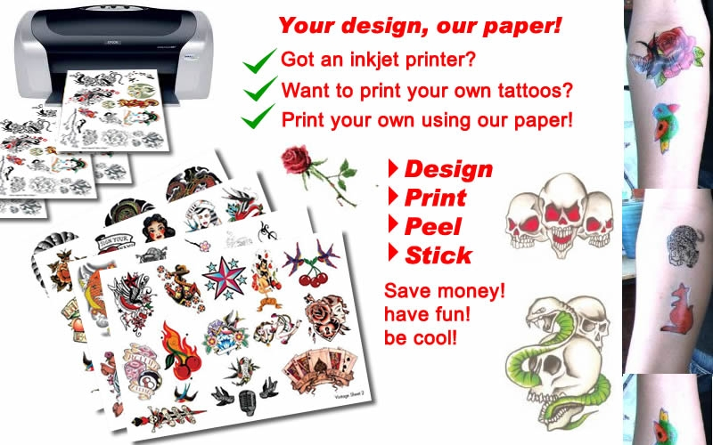 Tattoo paper temporary tattoos in australia blog for Temporary tattoo printer