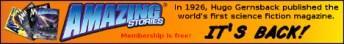 Amazing Stories It's Back Banner (Orange)