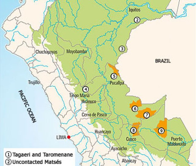 Map Of Uncontacted Amazon Tribes