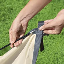 Easy to fit with secure clips and sturdy poles for durability