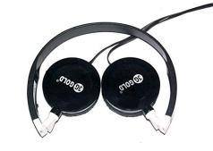 USR Group HD-48 3G Gold On-Ear Headphone with Deep Bass (Black)