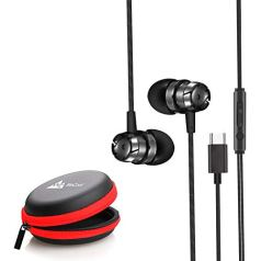 WeCool Mr.Bass Snug Fit Metallic in Ear Earphones for Mobile with Mic | | Headphones for Mobile | | Earphones for Mobile | | + Free Carry Case (Type-C)