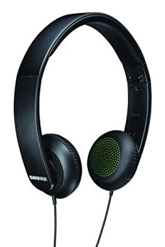 Shure SRH144 Semi-Open Portable Collapsible Headphones (Black)