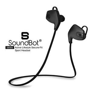 SoundBot SB565-BLK/BLK Stereo Bluetooth 4.0 Wireless Headset (Black)