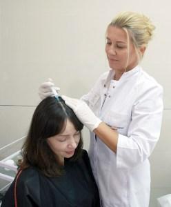Мезотерапія шкіри голови для росту волосся