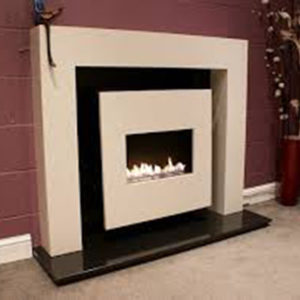 Flueless gas fire