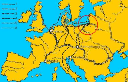 Amber trade routes