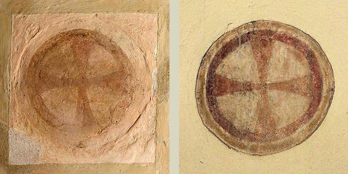 Wall paintings - Consecration crosses