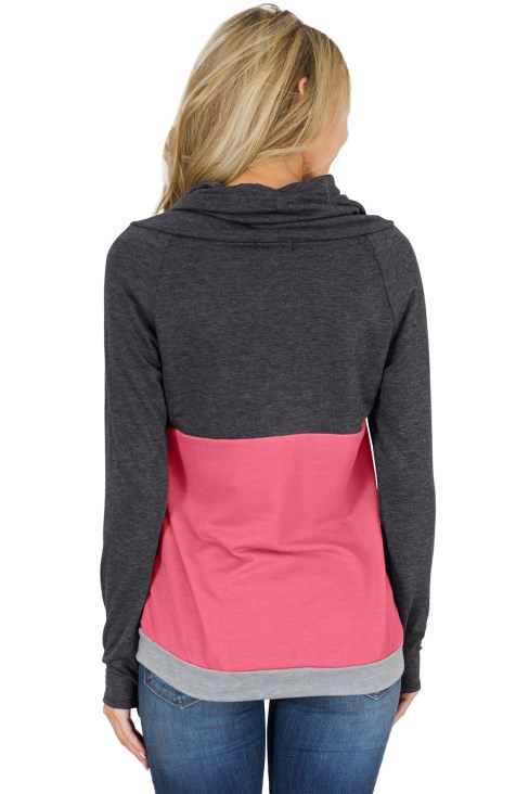 Tallie Women Color Block Thumbhole Sleeved Sweatshirt Mustard Navy