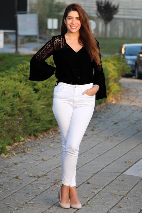 Sammi Women's Flare Sleeve Button Down Shirts White