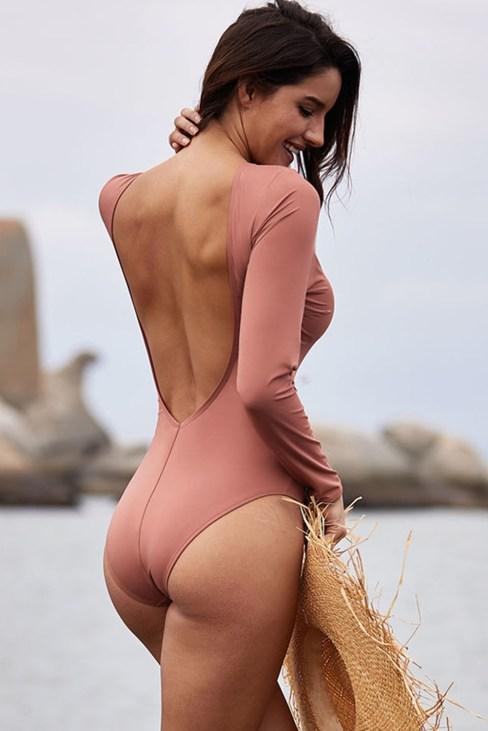 Lena Women Sexy Lace up High Cut Monokini Bathing Suit Black