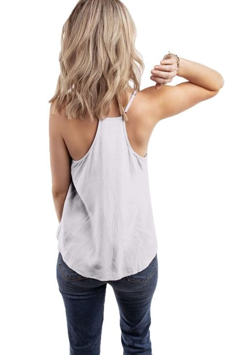 Millet Women V-Neck Straps Sleeveless Sun Tank Top Beige