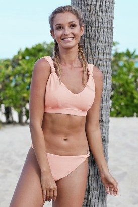 Marina Knotted Bikini Swimwear Set Black