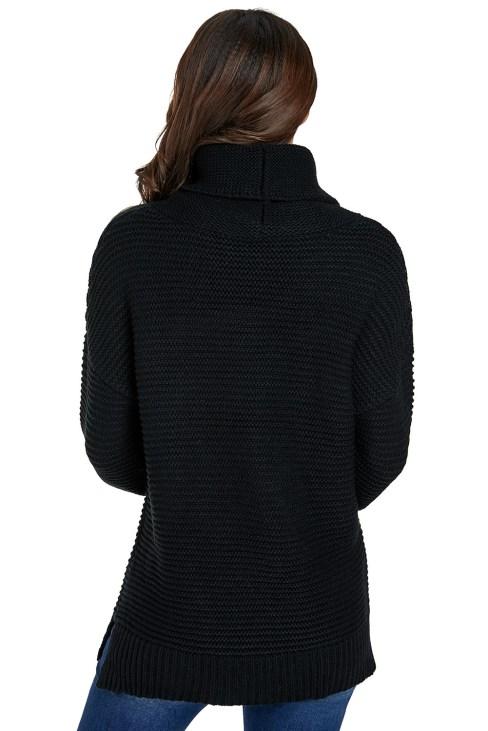 Alyce Women's Cozy Long Sleeves Turtleneck Sweater Black
