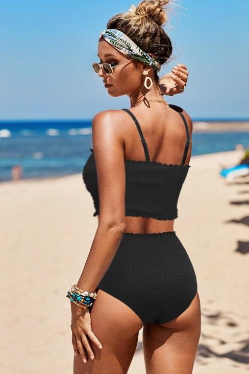 Maria Women Smock High Waist Bikini Black