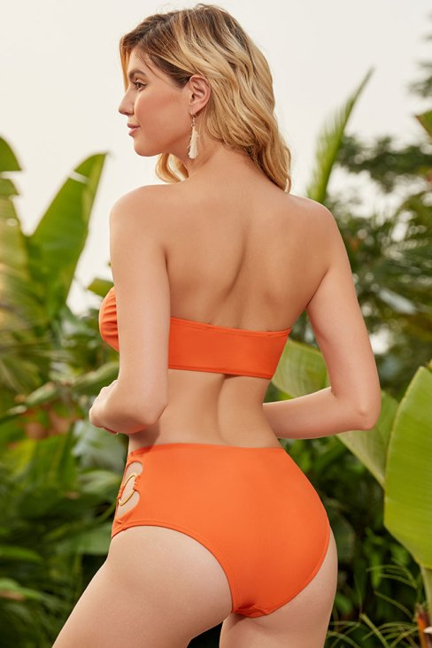 Alana Women's Detachable Straps High Waist Bikini Set