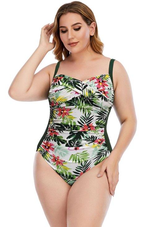 Frida Women Floral One Piece Swimsuit Plus Size Bathing Suit
