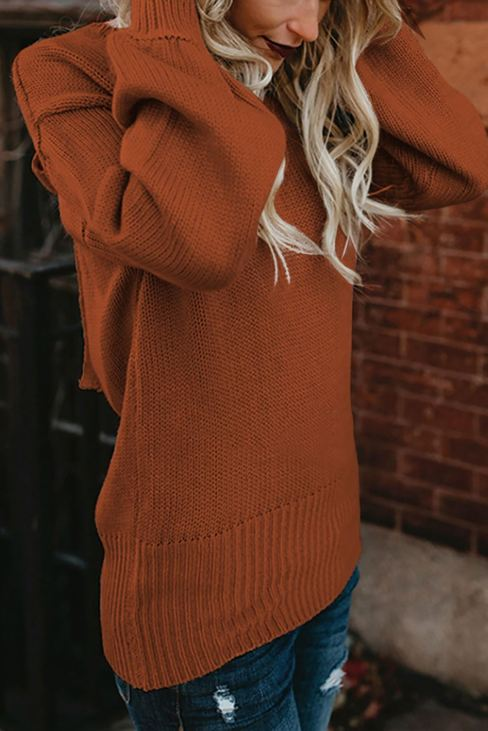 Acelin Womens Hollow-out Back Sweater with Tie