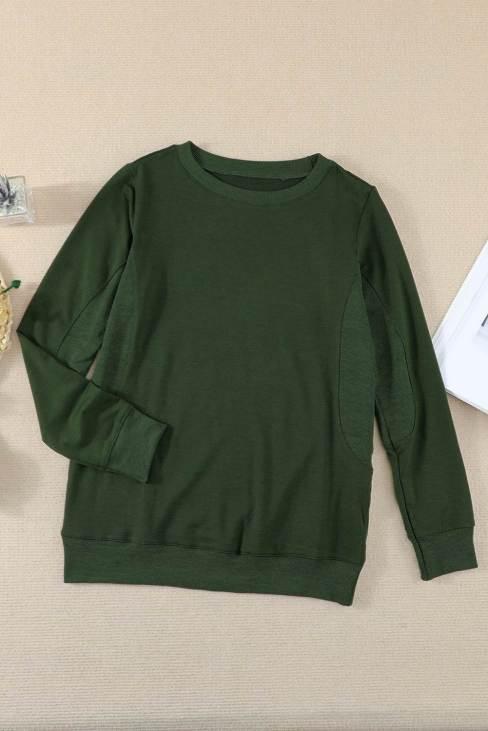 Shirley Women Green Wash Fleece Pullover Sweatshirt