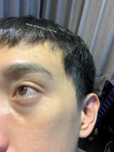 眼霜塗抹後