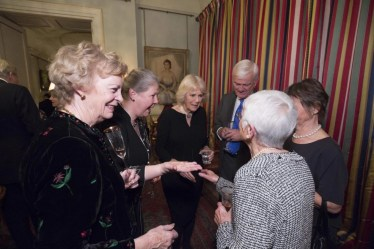 LONDON - UK - 26- JAN-2016: HRH The Duchess of Cornwall hosts an event at St. James's Palace to celebrate the 21st birthday of The Amber Trust, of which she is President. Musical savant and Patron to The Amber Trust, Derek Paravicini, entertained an invited audience before a reception at Clarence House. Photograph by Ian Jones