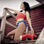 Wonder Woman photoshoot Amber Love