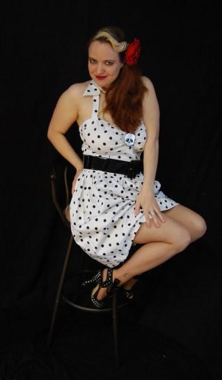 2010 Fife pinup white dress 0220