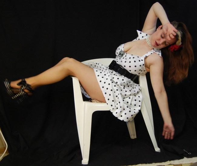 2010 Fife pinup white dress 0516