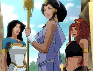 WONDER WOMAN, HIPPOLYTA, ARTEMIS - WW ANIMATED MOVIE