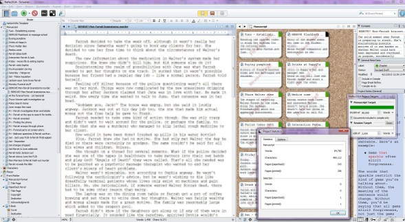 Writing: Using Scrivener for Novels