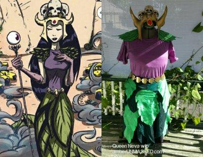 Queen Neva first fitting