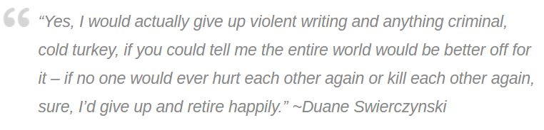 amberunmasked.com Duane Swierczynski quote