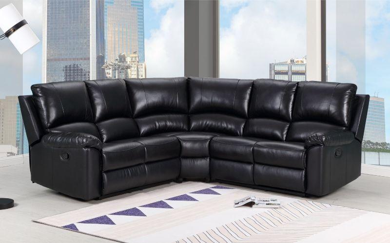gu 9241bk 3pc 3 pc latitude run jaidan black leather aire reclining sectional sofa set