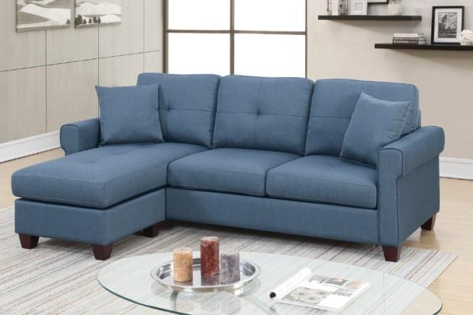 Pc Leta Blue Glossy Polyfiber Fabric