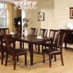 Cm3336t 9pc 9 Pc Red Barrel Studio Birchover Edgewood I Dark Espresso Wood Finish Dining Table Set