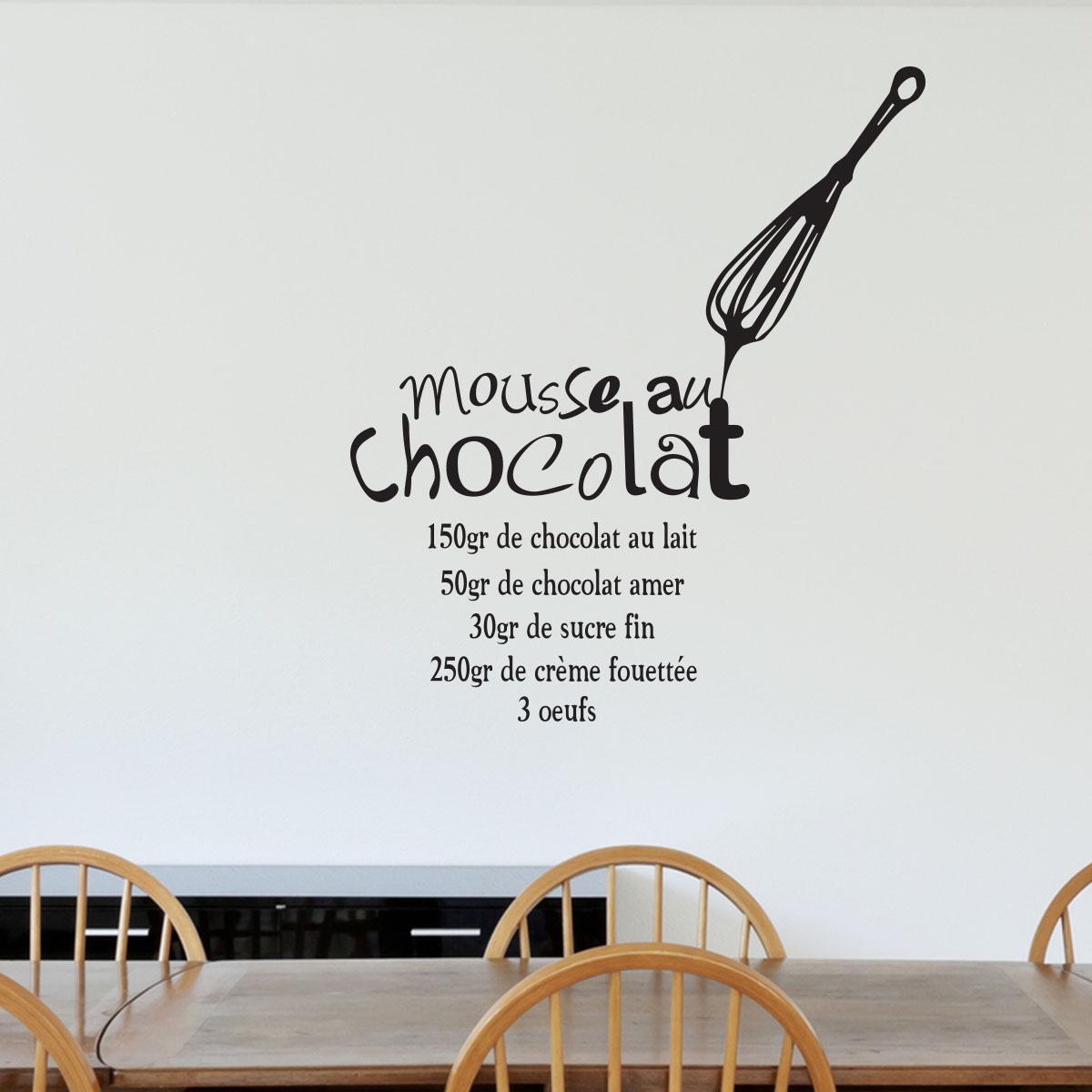 Sticker Recette Mousse Au Chocolat Stickers Cuisine