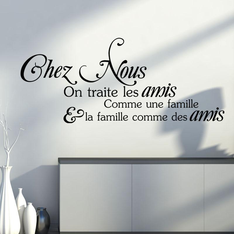 Sticker Citation Chez Nous On Traite Les Amis