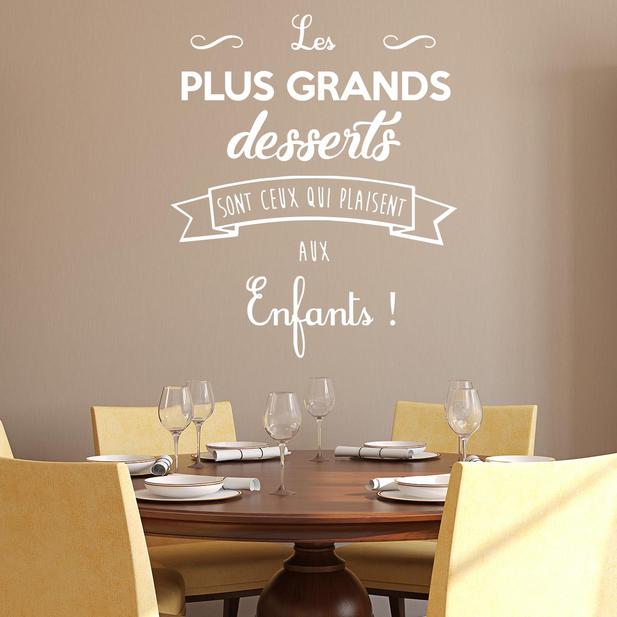 Sticker Citation Cuisine Les Plus Grands Desserts